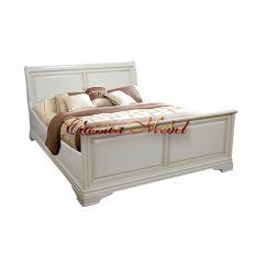 Кровать Влада (белая эмаль, 193см)