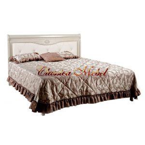 Кровать Лика 2 (белая эмаль, 120см)