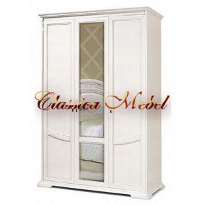 Шкаф Лика 2 (белая эмаль, с зеркалом)