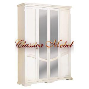 Шкаф Лика 3 (белая эмаль, с зеркалом)