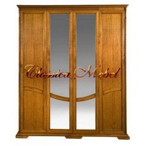 Шкаф Лика 3 (медовый дуб, с зеркалом)