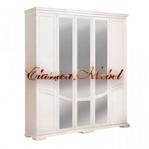Шкаф Лика 4 (белая эмаль, с зеркалом)