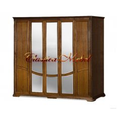 Шкаф Лика 4 (медовый дуб, с зеркалом)