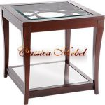 Столик со стеклянной полкой h61 L61 w61см