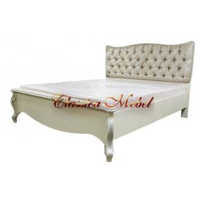 Кровать Луиза (белая эмаль+сп, 155см)