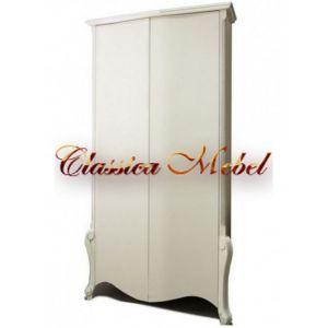 Шкаф Луиза 1 (белая эмаль+сп)