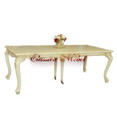 Обеденный стол DT.802.3.W (раскладной) (слоновая кость)