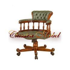 Кресло COR-M (кожа черная, зеленая, коричневая, темно-коричневая)