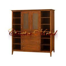 Шкаф книжный BSML2-M