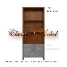 Шкаф книжный (верх) BCPLST-M