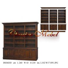 Шкаф книжный BSH6DD-M