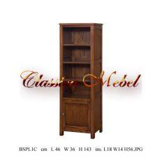 Шкаф книжный BSPL1C-M