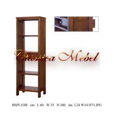 Шкаф книжный BSPL1DB-M