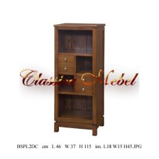 Шкаф книжный BSPL2DC-M