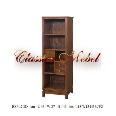 Шкаф книжный BSPL2DD-M