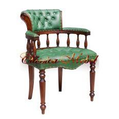 Кресло CORA-M LG (зеленая кожа)