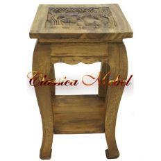 Столик с резной столешницей h60 L36 w36cм
