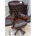 Кресло Черчилль C98E-ASD-BL (черная кожа)