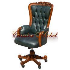 Кресло Черчилль C98E-ASD-GL (зеленая кожа)