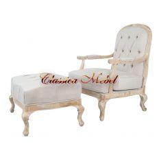 Кресло с банкеткой Honesta beige (комплект)