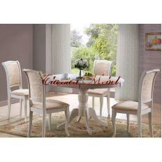 Обеденный стол MK-1254-BW (раскладной)