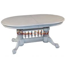 Обеденный стол HNDT - 4296 SWC white (раскладной)